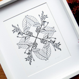 Collected-Patterns-Croton-Letterpress-Print-Framed